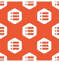Orange hexagon dotted list pattern vector