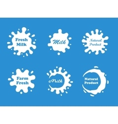 Milk splash set vector image