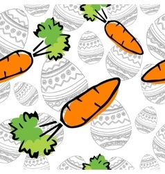 Eastern carrot seamless pattern vector
