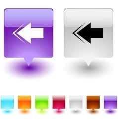 tree square button vector image
