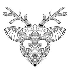 Decorative ornamental reindeer vector