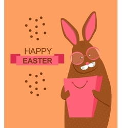 Easter bunny with shopping bag vector