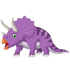 Dinosaur triceratops cartoon vector