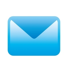 Blue icon message design vector