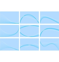 blue business cards collection vector image vector image