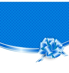 Blue Frame With Ribbon Bow vector image