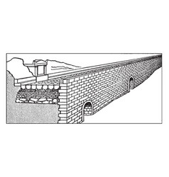 Construction layers of a section of the appian vector