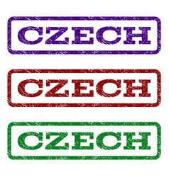 Czech watermark stamp vector
