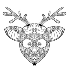 Decorative ornamental reindeer vector image