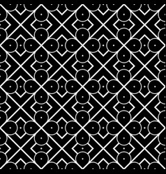 Design seamless monochrome geometric pattern vector