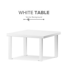 Empty table isolated furniture stand vector