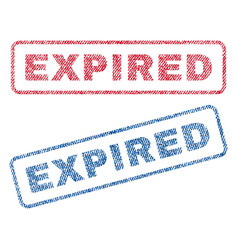 Expired textile stamps vector