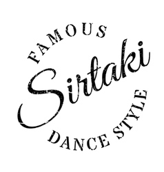 Famous dance style sirtaki stamp vector