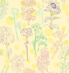 Flowers pattern vector