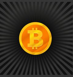 Gold bitcoin concept vector