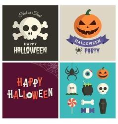 halloween design pack vector image