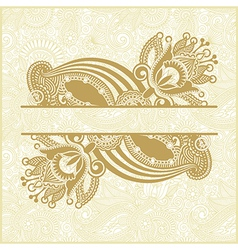 Hand draw ornate abstract flower background vector