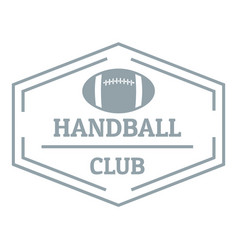 Handball logo simple gray style vector