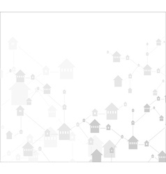 house icons linked together vector image vector image