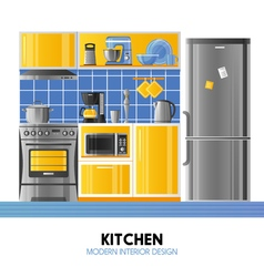 Kitchen Modern Interior Design vector image vector image