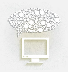 minimalistic background with white speech bubble vector image
