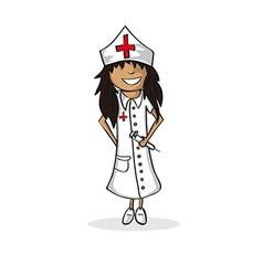 Profession nurse woman cartoon figure vector image vector image