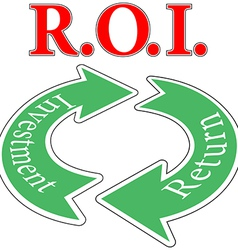 Roi return on investment cycle vector
