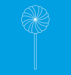 Round candy icon outline style vector