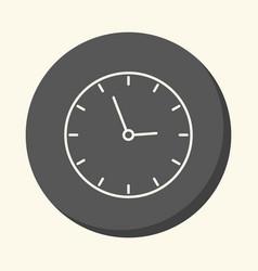 School wall clock circular line icon with vector