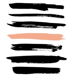 Set of brushes for design vector image