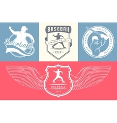 Set of Logo and Badges Baseball vector image vector image