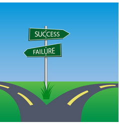 success failure signpost vector image vector image
