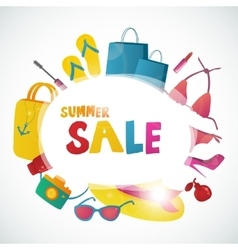 Summer Sale collection background design vector image vector image