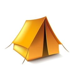 Tent isolated on white vector image vector image