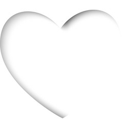valentines card with cut out heart on a white vector image