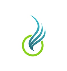 wing abstract fly air logo vector image vector image