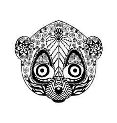 Zentangle stylized lemur sketch for tattoo or t vector