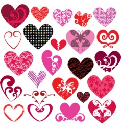 Heart designs vector
