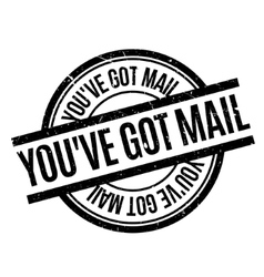 You have Got Mail rubber stamp vector image