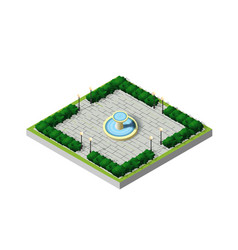 Isometric city park vector