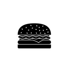 hamburger solid icon food drink elements vector image