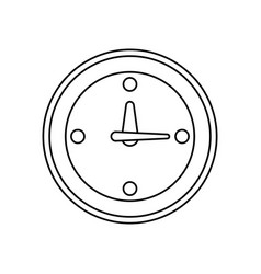 line clock symbol icon design vector image