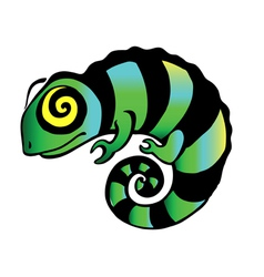 Decorative chameleon vector