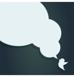 Speech bubble with crow of crow with big speech vector