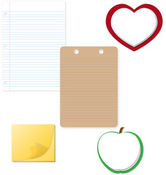 Notepad and paper clipart vector
