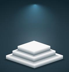 3d podium in empty room vector image vector image