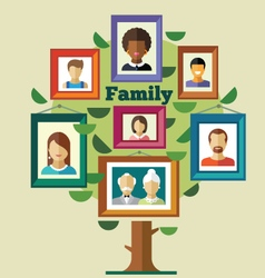 Family tree relationships and traditions vector