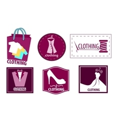 Clothing fashion icon set vector