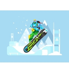 Snowboarder cartoon character vector