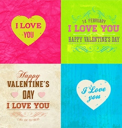 Valentines background set vector